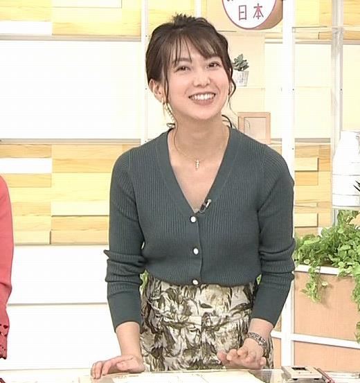 和久田麻由子アナ 胸元開き気味キャプ・エロ画像4
