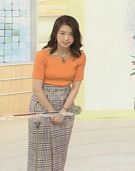 和久田麻由子アナ ニットですごくエロくなったおっぱいキャプ・エロ画像
