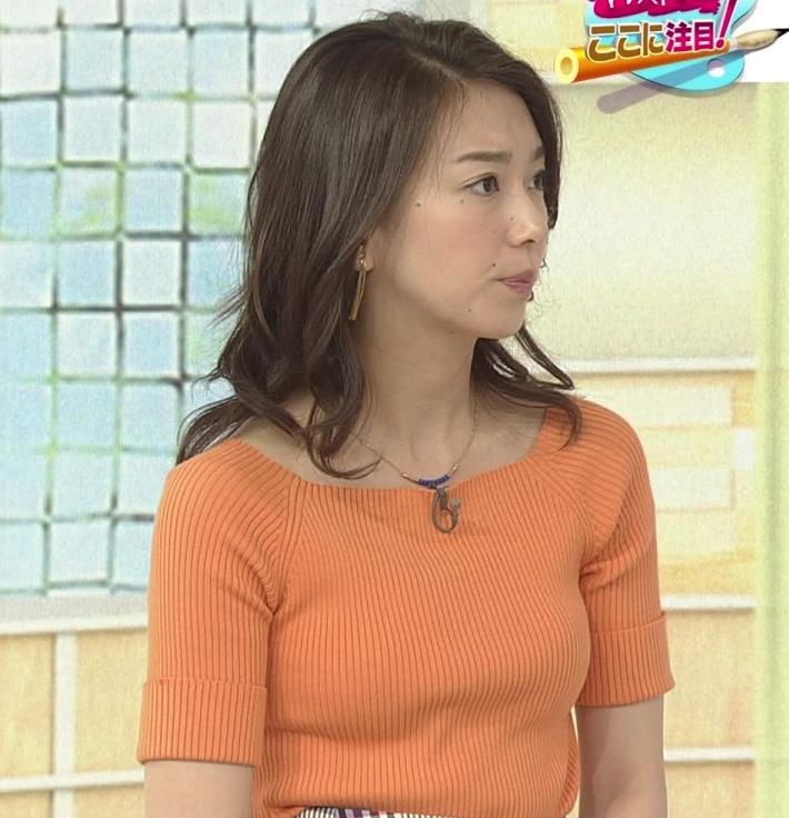 和久田麻由子アナ ニットですごくエロくなったおっぱいキャプ・エロ画像5