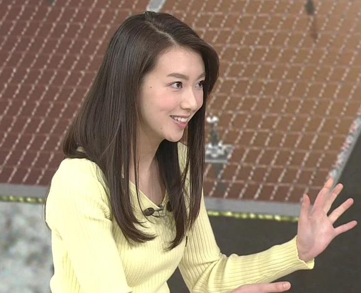 和久田麻由子アナ ニット乳画像キャプ・エロ画像
