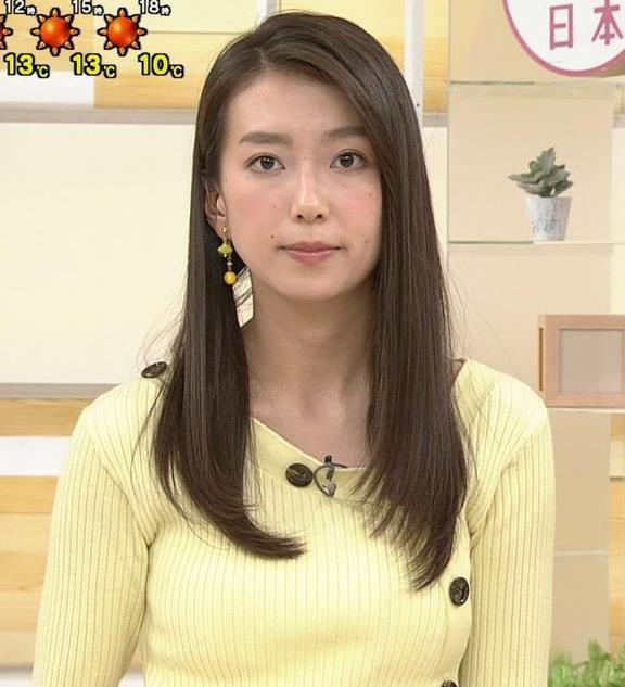 和久田麻由子アナ ニット乳画像キャプ・エロ画像2