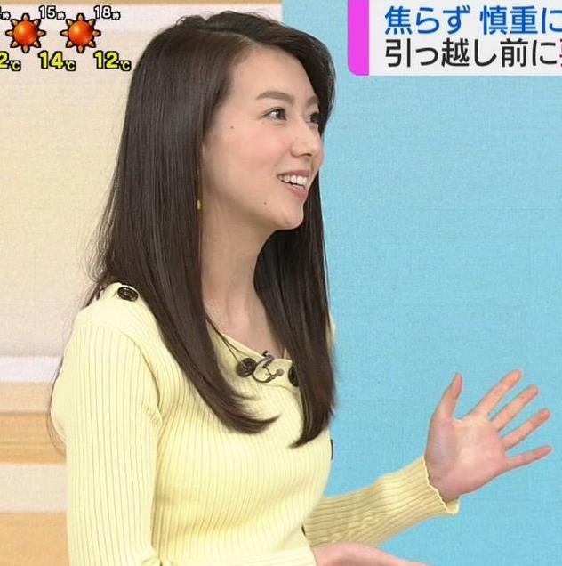 和久田麻由子アナ ニット乳画像キャプ・エロ画像3
