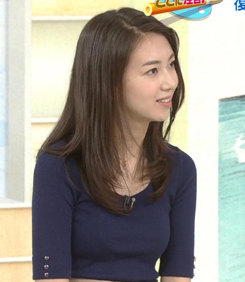 和久田麻由子アナ おっぱいの上をマイクのコードが通ってるみたいですキャプ・エロ画像9