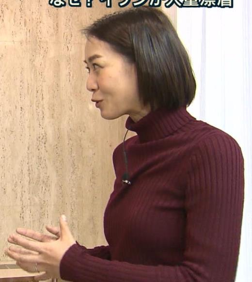 八木麻紗子 ニット★横乳キャプ画像(エロ・アイコラ画像)