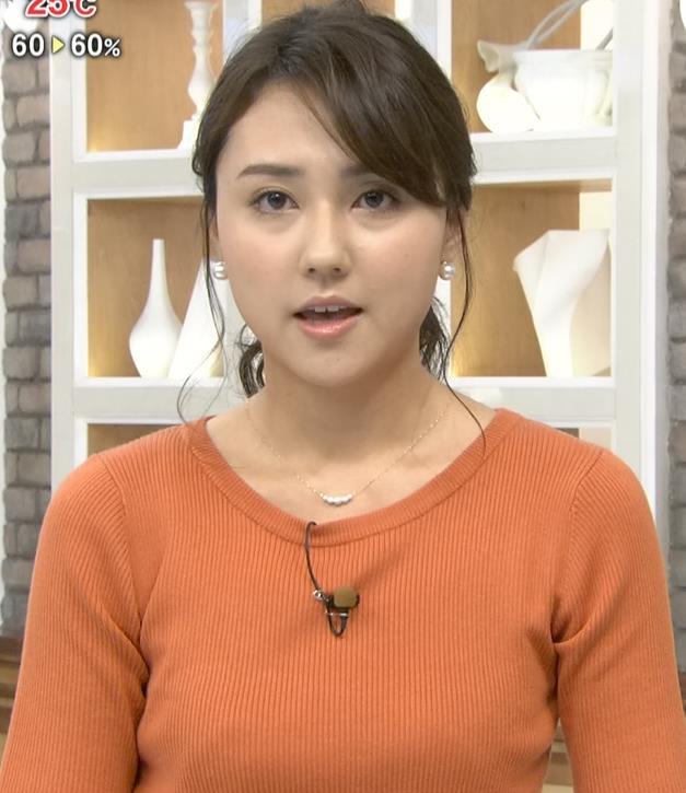山形純菜アナ エロいニットおっぱいキャプ・エロ画像2
