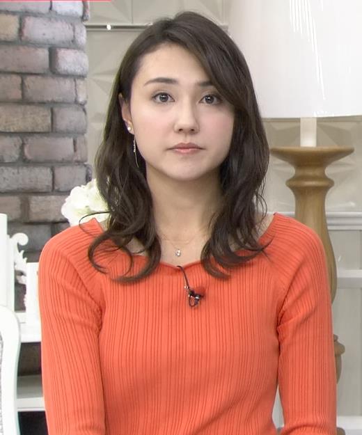 山形純菜アナ ニットおっぱいキャプ・エロ画像2