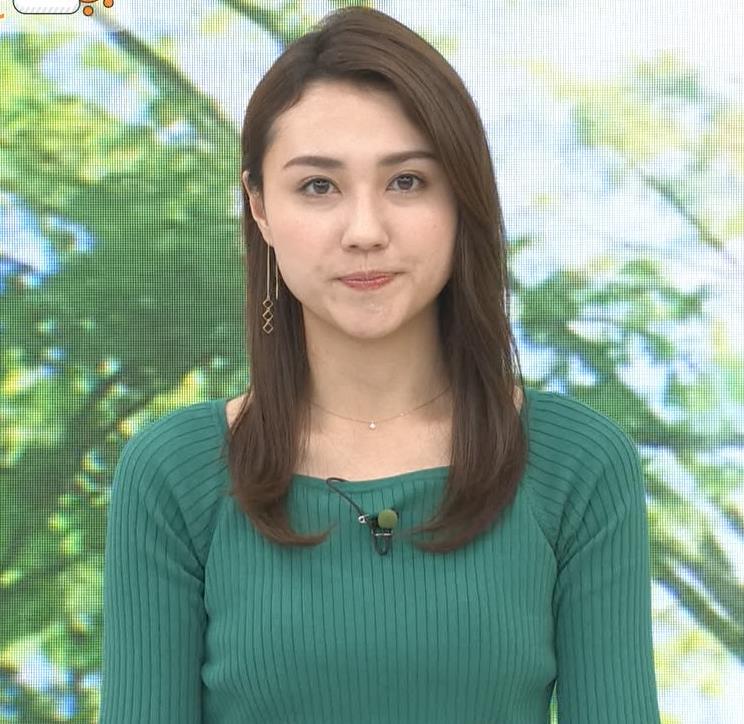 山形純菜アナ ニットおっぱいキャプ・エロ画像4