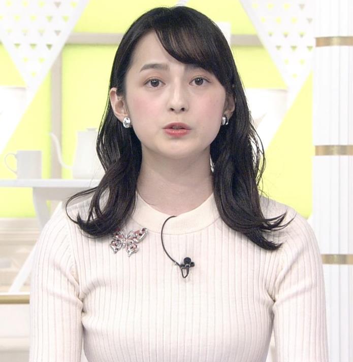 山本恵里伽アナ ニットおっぱいキャプ・エロ画像