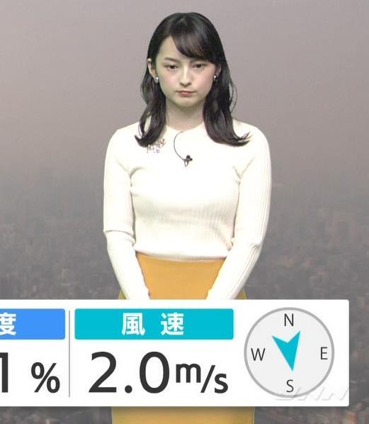 山本恵里伽アナ ニットおっぱいキャプ・エロ画像2