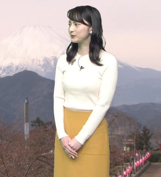 山本恵里伽アナ ニットおっぱいキャプ・エロ画像3