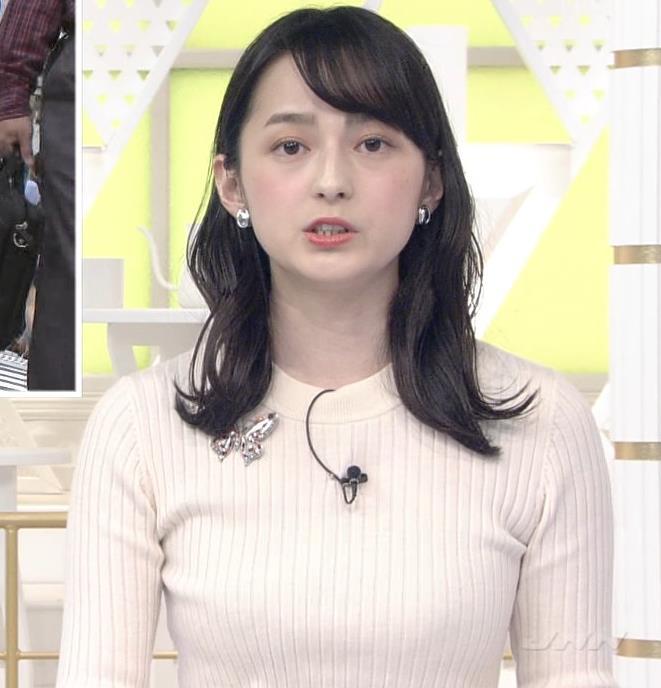 山本恵里伽アナ ニットおっぱいキャプ・エロ画像4