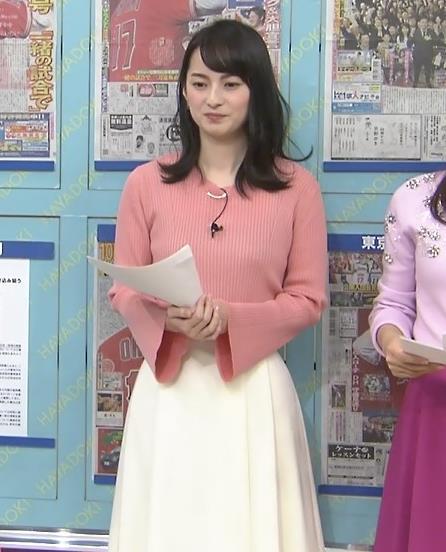 山本恵里伽アナ ニット横乳キャプ・エロ画像3