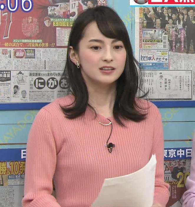 山本恵里伽アナ ニット横乳キャプ・エロ画像4