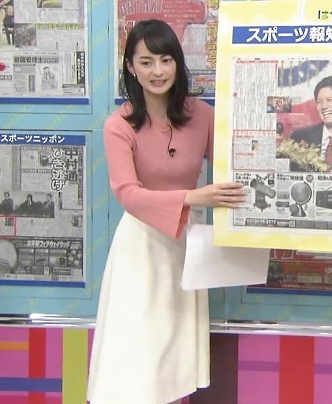 山本恵里伽アナ ニット横乳キャプ・エロ画像5