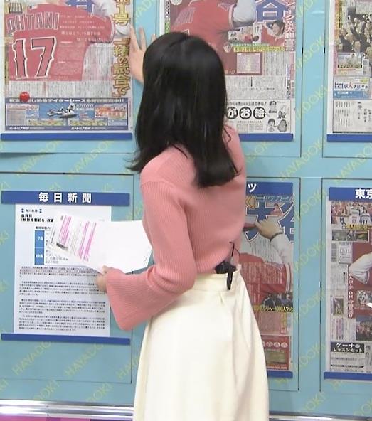 山本恵里伽アナ ニット横乳キャプ・エロ画像6