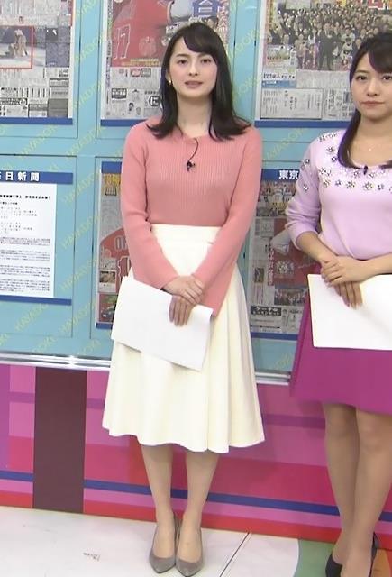 山本恵里伽アナ ニット横乳キャプ・エロ画像7
