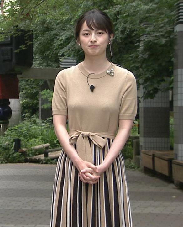 山本恵里伽アナ おっぱいが何気に際立つエロい服キャプ・エロ画像