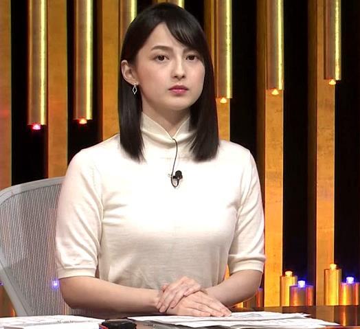 山本恵里伽アナ エロい横乳キャプ・エロ画像6