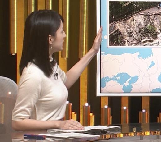 山本恵里伽アナ エロい横乳キャプ画像(エロ・アイコラ画像)