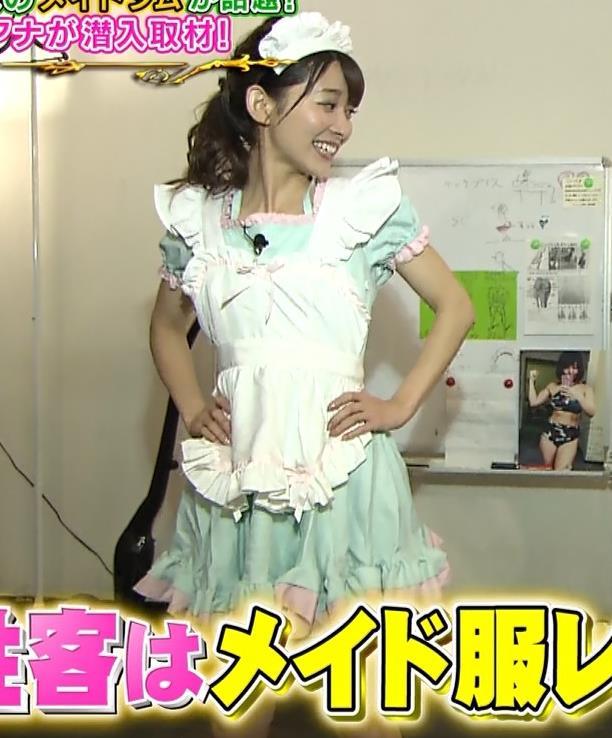 山本里菜アナ メイド服やノースリーブおっぱいなどキャプ・エロ画像11