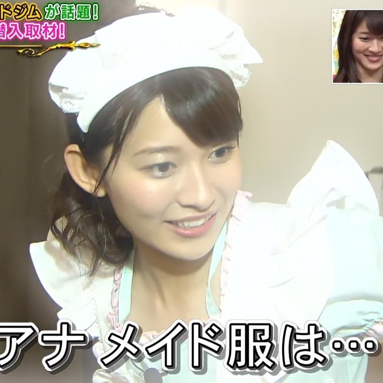 山本里菜アナ メイド服やノースリーブおっぱいなどキャプ・エロ画像13