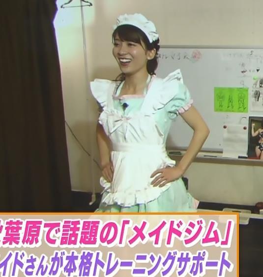 山本里菜アナ メイド服やノースリーブおっぱいなどキャプ・エロ画像14