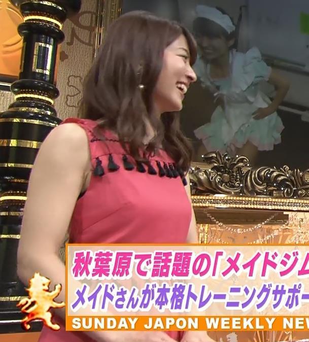 山本里菜アナ メイド服やノースリーブおっぱいなどキャプ・エロ画像16