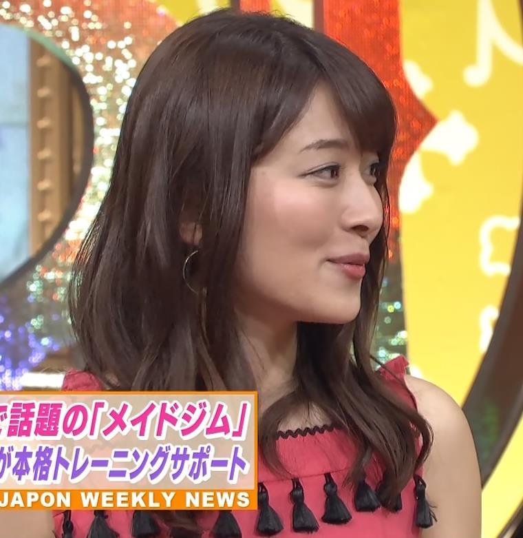 山本里菜アナ メイド服やノースリーブおっぱいなどキャプ・エロ画像17