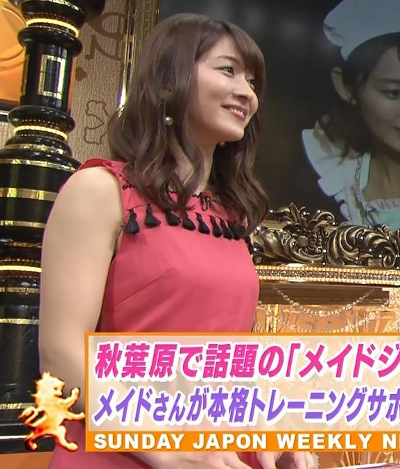 山本里菜アナ メイド服やノースリーブおっぱいなどキャプ・エロ画像18