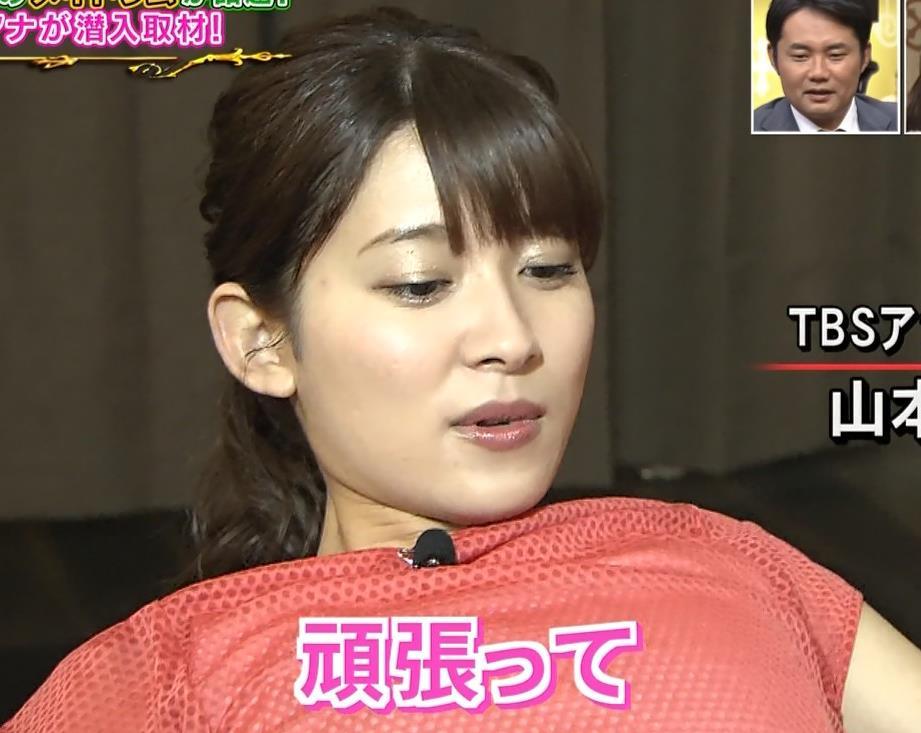 山本里菜アナ メイド服やノースリーブおっぱいなどキャプ・エロ画像6