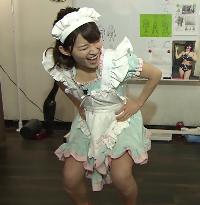 山本里菜アナ メイド服やノースリーブおっぱいなどキャプ・エロ画像9