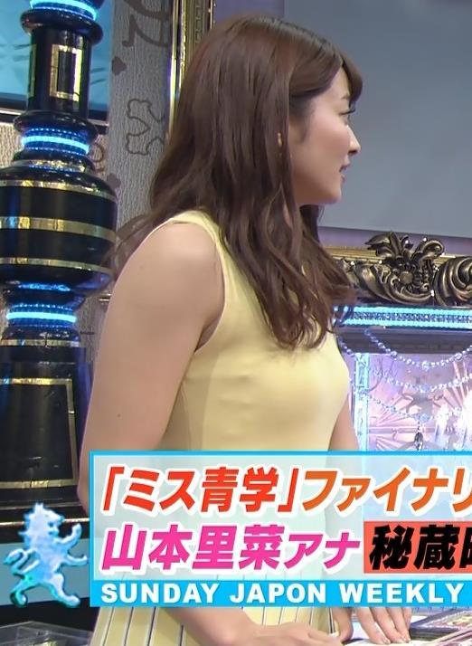アナ 巨乳が際立つピチピチノースリーブキャプ・エロ画像6