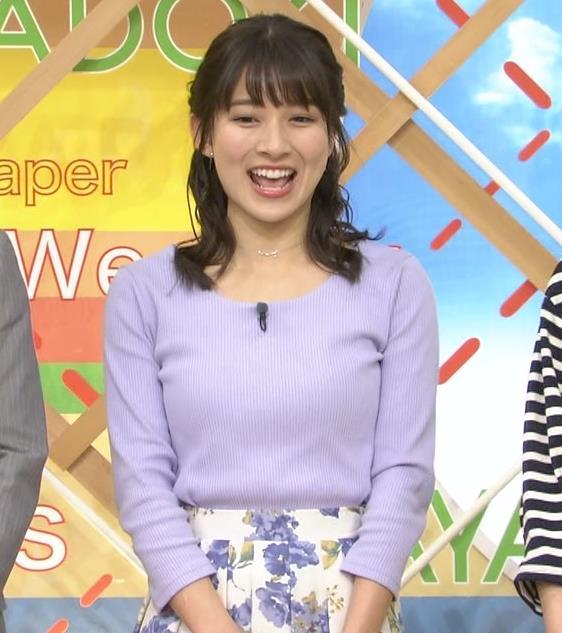 山本里菜アナ デカそうなニット乳キャプ・エロ画像12
