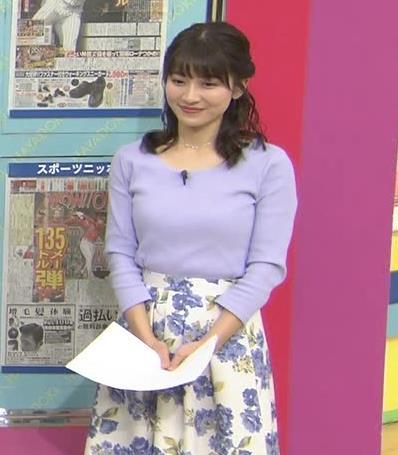 山本里菜アナ デカそうなニット乳キャプ・エロ画像6