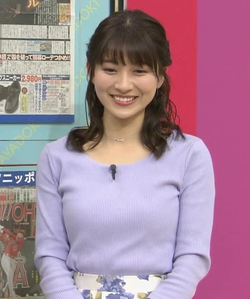 山本里菜アナ デカそうなニット乳キャプ・エロ画像7
