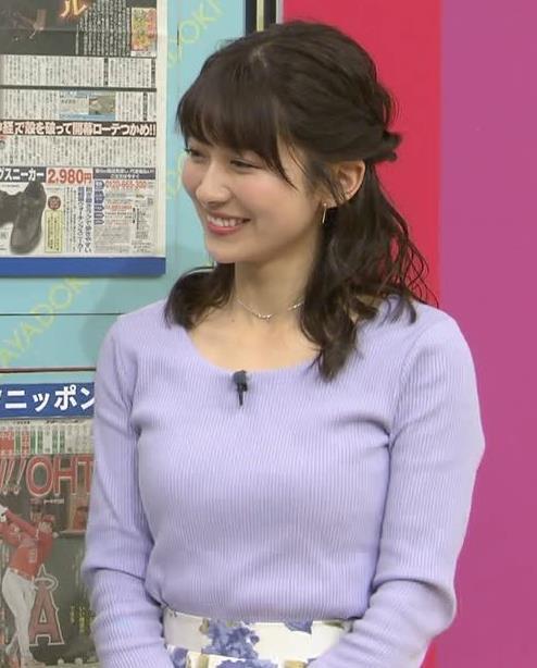 山本里菜アナ デカそうなニット乳キャプ・エロ画像8