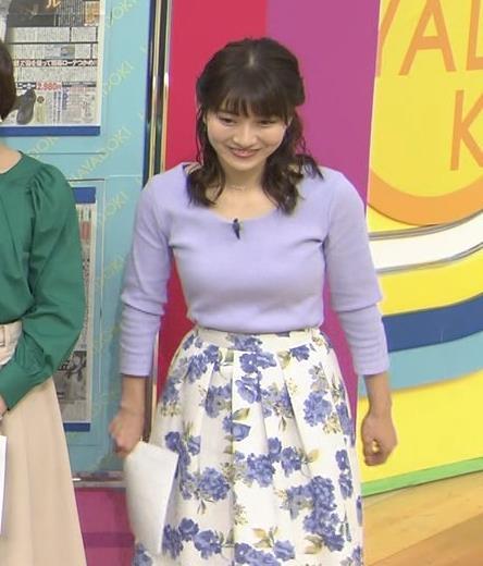 山本里菜アナ デカそうなニット乳キャプ・エロ画像9