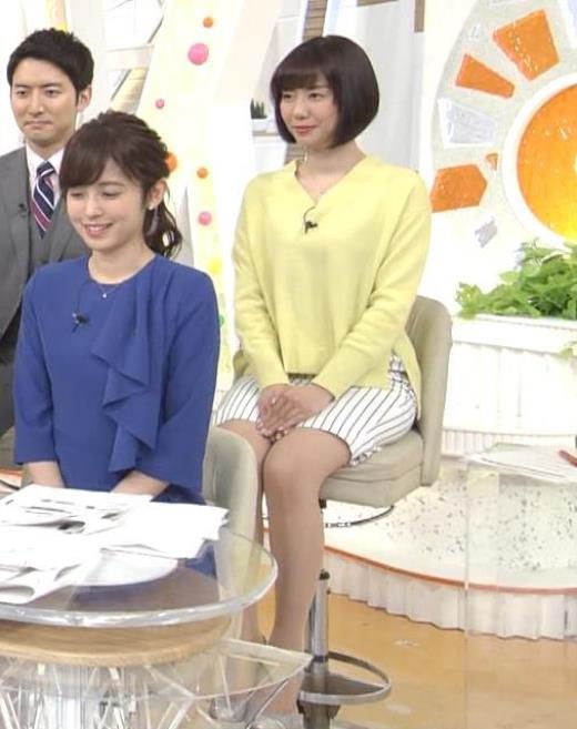 山崎夕貴アナ ミニスカ太ももキャプ画像(エロ・アイコラ画像)