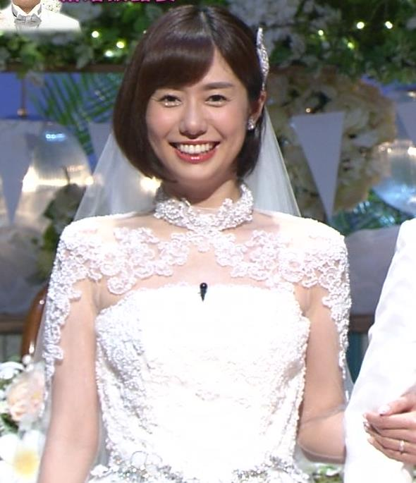 山崎夕貴アナ ウエディングドレス姿キャプ・エロ画像3