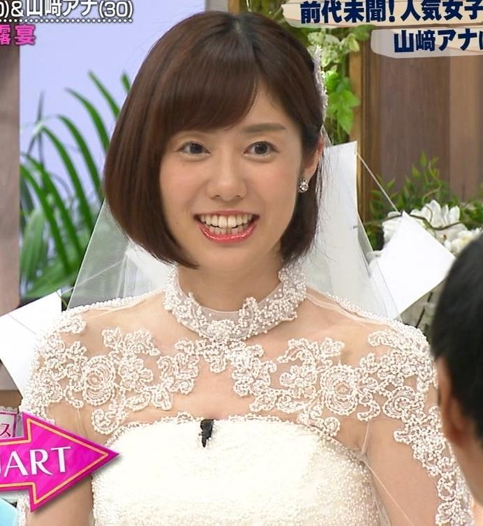 山崎夕貴アナ ウエディングドレス姿キャプ・エロ画像5