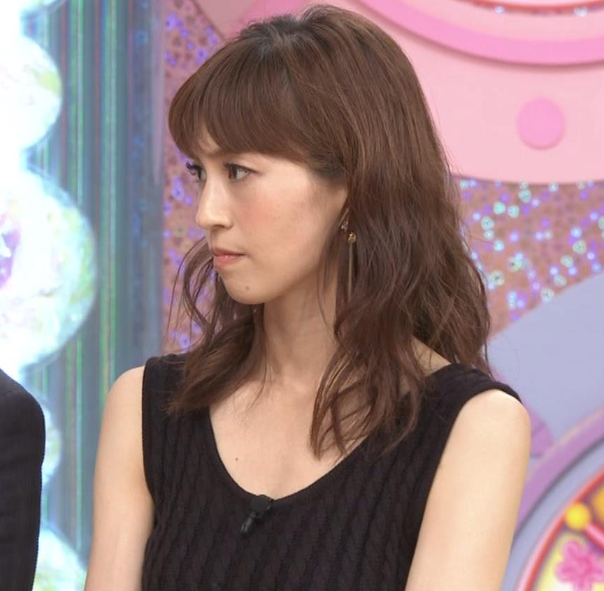 安田美沙子 露出度高いノースリーブ。垂れてそうなおっぱいキャプ・エロ画像9