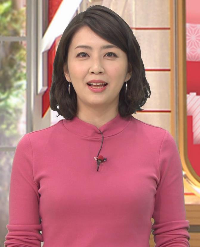 矢島悠子アナ ニットおっぱい♡キャプ・エロ画像