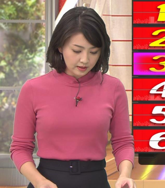 矢島悠子アナ ニットおっぱい♡キャプ・エロ画像2