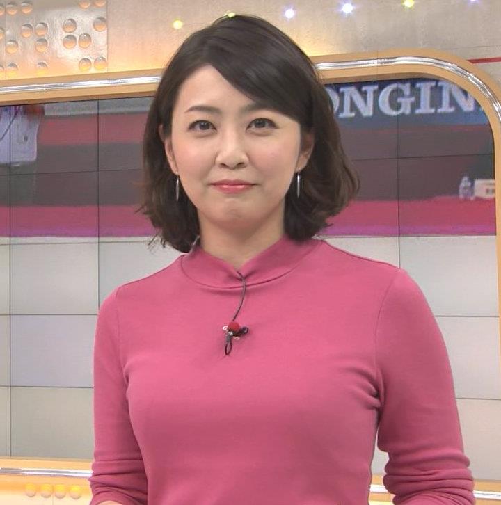 矢島悠子アナ ニットおっぱい♡キャプ・エロ画像3