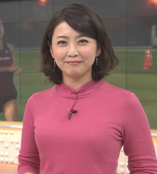 矢島悠子アナ ニットおっぱい♡キャプ・エロ画像4
