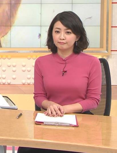 矢島悠子アナ ニットおっぱい♡キャプ・エロ画像5