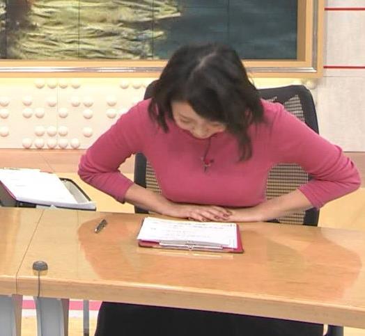 矢島悠子アナ ニットおっぱい♡キャプ・エロ画像6