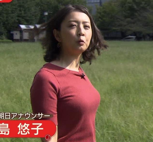 矢島悠子アナ クッキリ!ニット巨乳横乳キャプ・エロ画像3