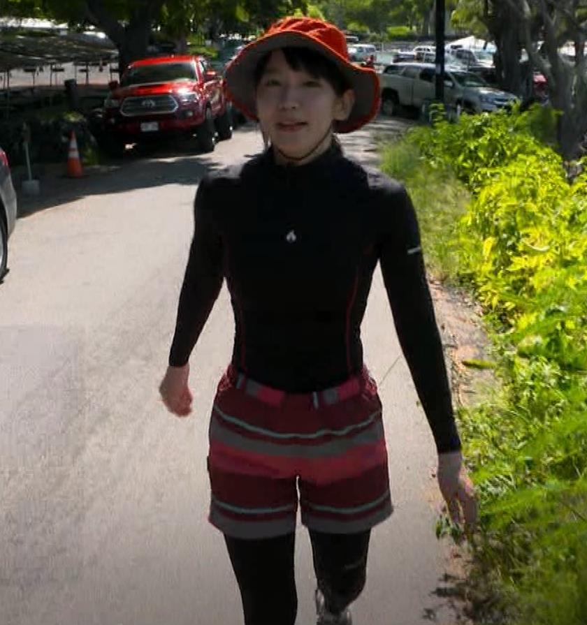 吉岡里帆 BSで水着姿になってたよ[横乳]キャプ・エロ画像