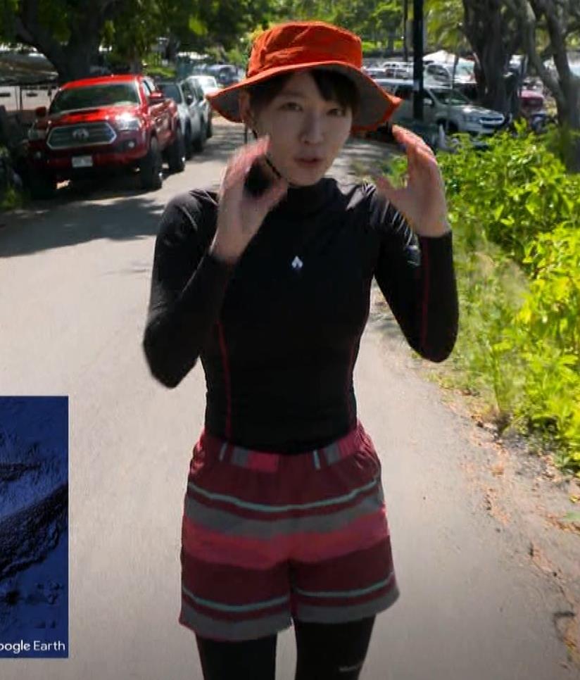 吉岡里帆 BSで水着姿になってたよ[横乳]キャプ・エロ画像2